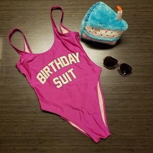"""High Cut One Piece Swimsuit """"Birthday Suit"""""""